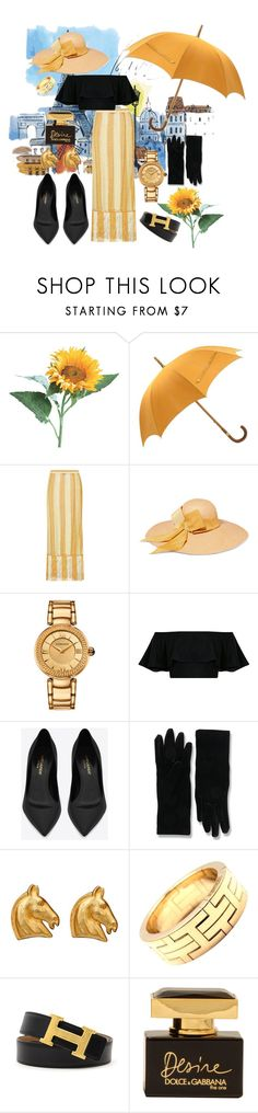 """Unapproachable Parisian Binch"" by nyla-white ❤ liked on Polyvore featuring Hermès, Missoni Mare, Sensi Studio, Versace, Yves Saint Laurent, Balenciaga and Dolce&Gabbana"