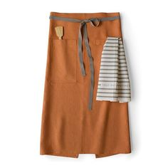 Linen Cafe Apron in Copper $69