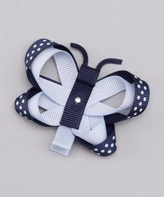Navy Butterfly Clip