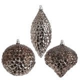Antiqued Silver Pinecone Ornaments -  PerfectlyFestive