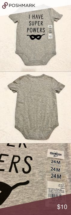 556cdb20e8424 Oshkosh originals bodysuit 24months Super cool 😎 NWT Oshkosh bodysuit.  Size 24 months