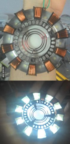 I've made this for a friend, she's a huge Ironman fan. What do you guys think? Cosplay Tutorial, Cosplay Diy, Male Cosplay, Cosplay Weapons, Iron Man All Armors, Iron Man Armor, Real Iron Man, Iron Man Arc Reactor, Star Wars Light