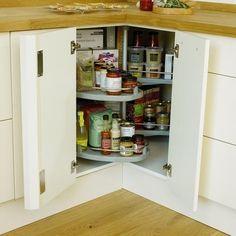 Premium Corner Carousel | Kitchen Storage Solutions | Howdens Joinery