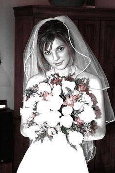 low saturation bride at wedding