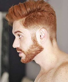 Cute Hairstyles For Red Highlights Red Hair Men Cool Hot Ginger Men, Ginger Beard, Ginger Hair, Red Beard, Mens Hairstyles Fade, Cool Hairstyles For Men, Haircuts For Men, Black Hairstyles, Low Taper Fade Haircut