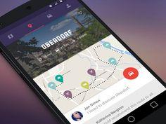 #Drive #mobile #map #design #ui #material