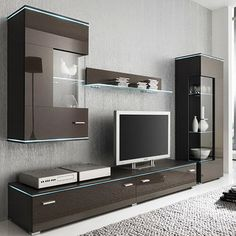 Affordable Wooden Tv Stands Design Ideas With Storage 34 - Tv unit furniture Modern Tv Cabinet, Modern Tv Wall Units, Tv Cabinet Design, Tv Wall Design, Living Room Wall Units, Living Room Tv Unit Designs, Living Rooms, Wall Unit Designs, Tv Stand Designs