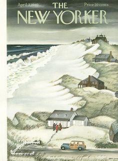 Edna Eicke : Cover art for The New Yorker 1259 - 2 April 1949                                                                                                                                                                                 More