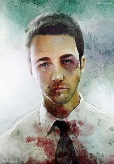 Artwork by Vlad Rodriguez,   who makes Ed Norton look a little conventionally handsome than he actually is in Fight Club.