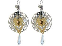 Boucles d'oreilles ange argentées et dorées : Boucles d'oreille par l-ecrin-de-loula