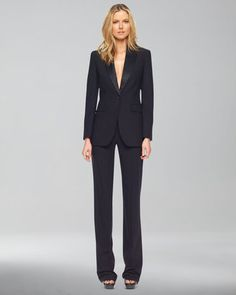 Michael Kors Serge Wool Straight-Leg Trousers #interviewoutfit