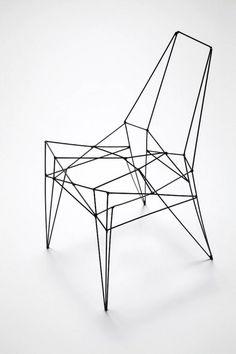 geomatrical chair design by Ricardo Carneriro