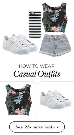 """Casual day at home"" by chap15906248 on Polyvore featuring Glamorous, Levi's, adidas Originals and Kate Spade"