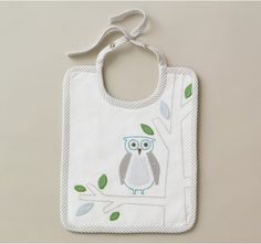 Cute and clever, embroidered bibs. #baby #sale @Betsy Andersen Hellooooo!