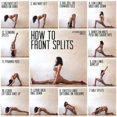 ✨How to Front Splits✨ . . . Another version! I did this tutorial a while ago, but there are way more poses to help you get into the front…
