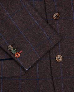 Check wool blazer - Purple | Suits | Ted Baker
