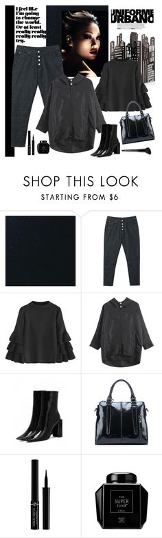 """Cool Black Look"" by carola-corana ❤ liked on Polyvore featuring Giorgio Armani, Old Navy and zaful"