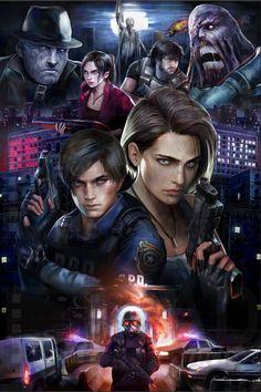 Resident Evil Anime, Resident Evil Girl, Evil Pictures, Resident Evil Franchise, Gif Terror, Kurama Naruto, Leon S Kennedy, Fun Sleepover Ideas, Hacker Wallpaper