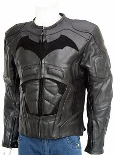 """The Dark Knight Rises Black Leather Jacket by LJ Showroom is specially made for all the Batman fans. You would adore the texture and supreme finish of the jacket as it gives a very fine touch. We hav"