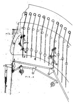 Detail from Erard's 1808 patent for fourchette mechanism double action harp
