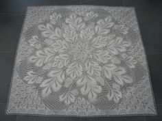 Knitted tablecloth. Herbert Niebling.  Niebling knitted lace doilies are the most beautiful patterns I have seen. God willing, I will knit at least one table cloth design.
