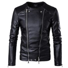 4 Reasons to choose a Slim Fit Leather Jacket | Black Jack Leathers – Men's & Women's Clothing Store | Black Jack Leathers Pu Jacket, Men's Leather Jacket, Jacket Men, Pu Leather, Mens Fur Collar Coat, Men Coat, Winter Leather Jackets, Sheepskin Coat, Slim Fit Jackets