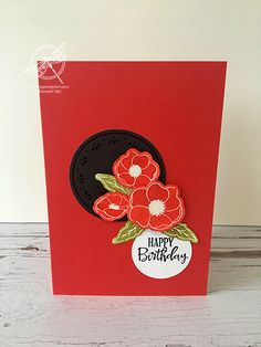 Craft-a-Long Club Inspiring Inkin Amanda Fowler Stampin' Up! Uk Poppies April 2020
