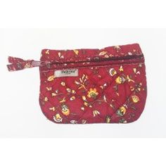 Quilted Pouch Fleurs des Champs Red