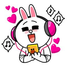 Cony listening to music