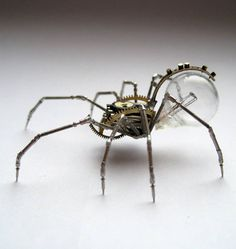Artist Constructs Spine-Chilling Insects And Spiders From Recycled Watch Parts | Artist Justin Gershenson-Gates
