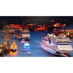 AIDA Cruising Ships in Hamburg Germany