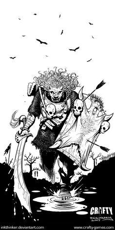 FantasyCraft - Soldier by *Inkthinker on deviantART Character Concept, Concept Art, Character Design, Dark Fantasy, Fantasy Art, Dcc Rpg, Hatch Drawing, Esoteric Art, Dnd Monsters