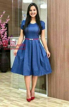 Dresses For Teens – Lady Dress Designs Modest Casual Outfits, Modest Dresses, Classy Outfits, Modest Fashion, Short Dresses, Fashion Dresses, Frock For Teens, Dresses For Teens, Skirt Outfits