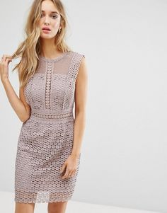 New Look Cutwork Lace Shift Dress | Asos
