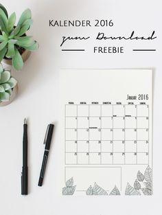 Kostenloser Kalender 2016 zum Download