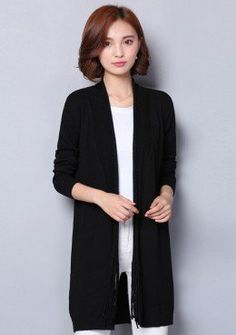 Buy Knitted Long Cardigan | mysallyfashion.com Malaysia | Cardigan ...