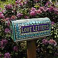 labor of love letters-mosaic mail box by Elaine Summers