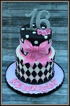 Sweet Sixteen Birthday Cake.