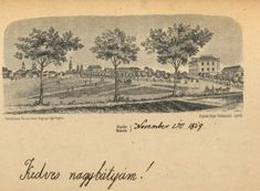 Győr, 1859. Vintage World Maps