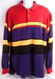 POLO RALPH LAUREN Mens Size XL Long Sleeve Shirt Cotton Multi Color #PoloRalphLauren #mensshirt #shirt
