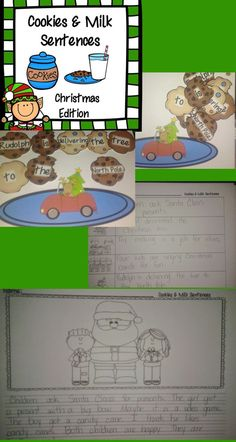 $ Christmas Sentence practice!  Writing complete sentences is something all students need to master.  This resource will give your students LOTS of opportunity to practice!  Student's build the sentence with cookies to match the picture on the plate. Students then write the sentence on one of two possible recording sheets!: