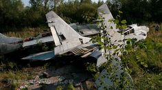 This Russian aircraft graveyard housed abandoned MiG-29 Fulcrums, Fishbeds and Floggers, former instructional airframes of the Moscow Engineering Institute.