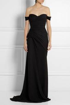 Versace Embellished silk-chiffon gown-Gosh that is just soooo stunning! LOVE off the shoulder