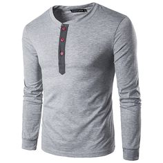Sale 30% (20.9 ) - Mens Spring Casual Solid Color Long Sleeve T 9793ce5b7d3