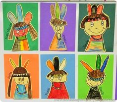 Thanksgiving Directed Drawing: Indian /Native American (via Bloglovin.com ) Thanksgiving Drawings, Thanksgiving Art Projects, Art Drawings For Kids, Art For Kids, Kindergarten Drawing, Indian Drawing, Directed Drawing, Drawing Activities, Art Lessons Elementary