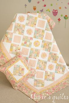 """Baby quilt """"Souffle"""". Made by Marie's quilts. http://mquilts.blogspot.com"""