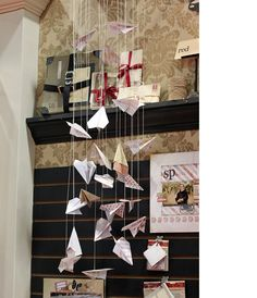 paper airplanes - this would be cute in a little boy's room!