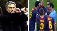 Tres partidos de sanción a Mou por un gesto como el de Piqué