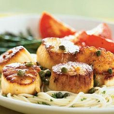 Scallops with Caper and Brown Butter Sauce | MyRecipes.com This was very good. Fast and easy.