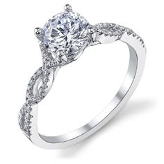 Los Angeles Jewelry District-La Diamond | Icing On The Ring - Micro-Prong Set Twist Engagement Ring